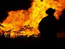 Incendie de fève Photographie stock libre de droits