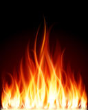 Incendie de flamme de brûlure Image libre de droits