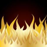 Incendie de flamme de brûlure Images libres de droits