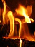 Incendie de flammes Photographie stock libre de droits