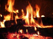Incendie de flammes Photo libre de droits