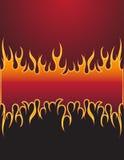 incendie de fond Images stock