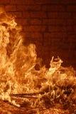 Incendie de four photographie stock libre de droits