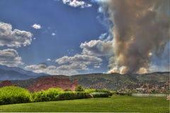 Incendie de gorge de Waldo Images stock