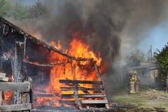 incendie de granges Photographie stock