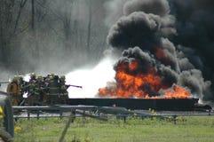 Incendie de mine Image libre de droits