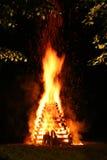 Incendie de nuit Photos libres de droits
