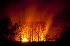 Incendie de nuit Photographie stock libre de droits