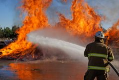 Incendie de palette photo stock