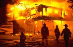 Incendie de structure Images stock