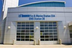 Incendie de Toronto et gare marine Photo libre de droits