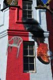 Incendie de tour dans l'hôtel de gruaux de John'o photo libre de droits