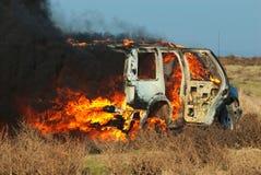 Incendie de véhicule image stock