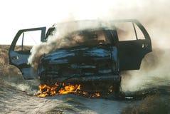 Incendie de véhicule Photographie stock libre de droits