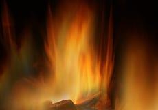 Incendie en bois Photos stock