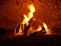 Incendie en bois Images stock