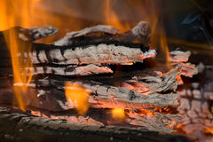 Incendie et carbones Images stock