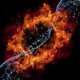 Incendie et eau images libres de droits