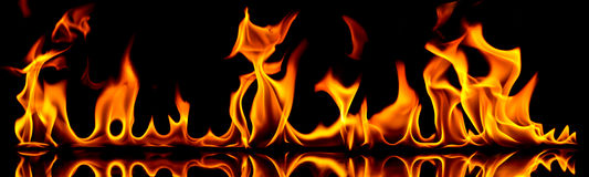Incendie et flammes. Photo stock
