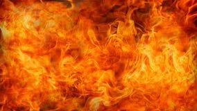 Incendie et flammes avec une obscurit? br?lante - rouge - fond orange Incendie et flammes photos stock