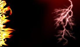 Incendie et flammes avec une obscurit? br?lante - rouge - fond orange Incendie et flammes image libre de droits