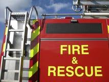 Incendie et sauvetage Images libres de droits