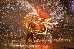 Incendie Fest 2011 de Kiev Images stock