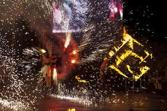 Incendie Fest 2011 de Kiev Images libres de droits