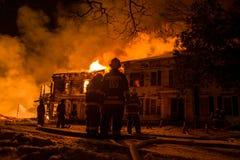 Incendie historique de ferme du Vermont Photos libres de droits