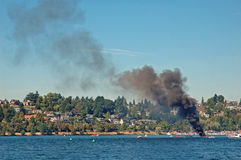 Incendie hydraulique illimité Photographie stock libre de droits
