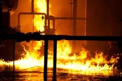 Incendie industriel Photographie stock