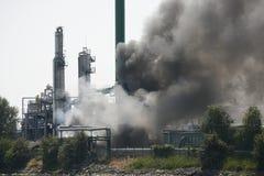 Incendie industriel Photos libres de droits