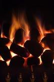Incendie à la maison Photos stock