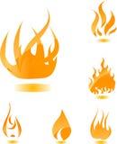 Incendie lustré orange Photo stock