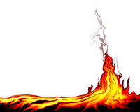 Incendie sauvage Photographie stock