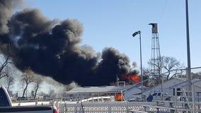Incendie sauvage Photo stock