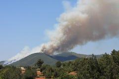 Incendie sur Ibiza Photo stock