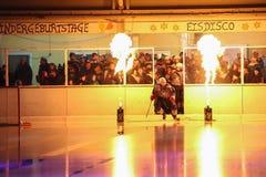 Incendie sur la glace Images libres de droits