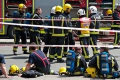 Incendie sur le brin, Londres Images stock