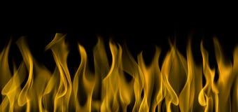 Incendie sur le fond noir Image libre de droits