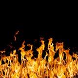 Incendie sur le noir Image libre de droits