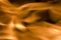 Incendie sur le noir Photo libre de droits