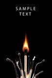 Incendie, temps, énergie Images stock