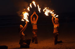 Incendie tournoyant Image stock