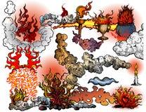 Incendies et flammes illustration de vecteur