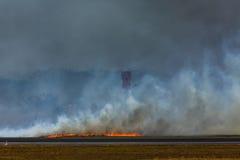 Incendio del sottobosco dell'aeroporto Immagine Stock Libera da Diritti