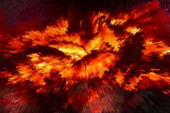 Incendio ed esplosione caldi Astrazione Rotazione rosso-cupo di Digitahi art illustrazione di stock