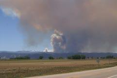 Incendio forestal de la quebrada de Buckhorn Fotos de archivo