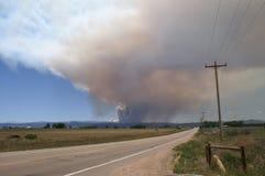 Incendio forestal de la quebrada de Buckhorn Foto de archivo