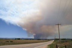 Incendio forestal de la quebrada de Buckhorn Fotografía de archivo libre de regalías